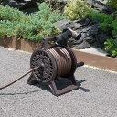 ブロンズホースリール アルミ鋳物フレーム 20m(おしゃれ/散水ホース/ホウス/ノズル/水撒き/洗車/シャワーホース)[02P03Dec16]