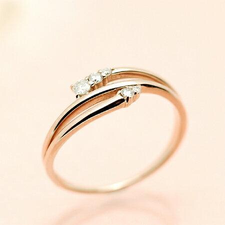 アンブラッスマン/K10PG レディース リング ダイヤモンド 10金ピンクゴールド(K10 PG) ギフト プレゼント ジュエリー