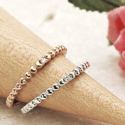 レディース リング ダイヤモンド 10金ピンクゴールド(K10 PG)  10金ホワイトゴールド(K10 WG) ギフト プレゼント ジュエリー ハートの連鎖が続いたら恋もきっと永遠に♪