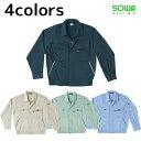 ショッピング春 作業服 作業着 ワークウェア SOWA 桑和 春夏作業服 長袖ブルゾン 483 刺繍 ネーム刺繍