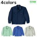ショッピング電気 作業服 作業着 ワークウェア 4L SOWA 桑和 秋冬作業服 長袖ブルゾン 7771 刺繍 ネーム刺繍