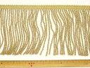 フリンジ(レーヨンコード)-ゴールド10.0cm幅FRA-11739-100【DM便OK】