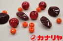 カナリヤ/クラフト/トワコロン/ビーズ/ブレスレット/キット/スパークルシード【レッド】/サンヒット