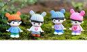 耳付きニット帽子女の子 約3.3*4.8cm 人形 人物 おもちゃ ウェディング 箱庭 ミニフィギュア テラリウムフィギュア ハンドメイド