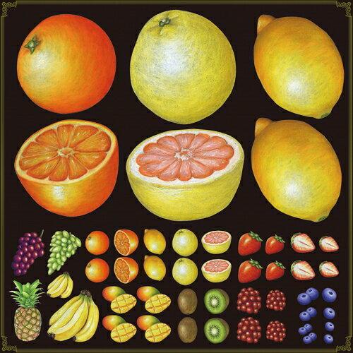 シール オレンジ レモン 果物 装飾 デコレーションシール チョークアート 窓ガラス 黒板 看板 POP ステッカー 用