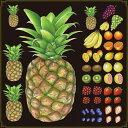 シール パイナップル 果物 装飾 デコレーションシール チョークアート 窓ガラス 黒板 看板 POP ステッカー 用