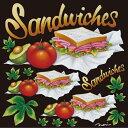 シール サンドイッチ トマトランチメニュー 装飾 デコレーションシール チョークアート 窓ガラス 黒