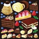 シール モンブラン 苺タルト チョコレート 装飾 デコレーションシール チョークアート 窓ガラス 黒板 看板 POP ステッカー 用