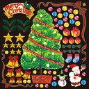 シール クリスマスツリー ベル 装飾 デコレーションシール チョークアート 窓ガラス 黒板 看板 POP ステッカー (最低購入数量3枚〜)
