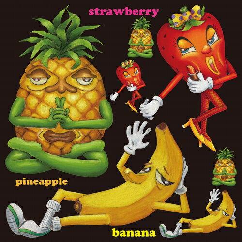 シール パイナップル バナナ 果物 装飾 デコレーションシール チョークアート 窓ガラス 黒板 看板 POP ステッカー 用