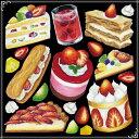 シール スイーツ ショートケーキ カフェ 装飾 デコレーショ...