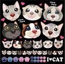 シール 猫 でか鼻 子猫 ペットショップ 装飾 デコレーションシール チョークアート 窓ガラス 黒板 看板 POP ステッカ…