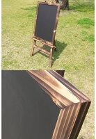 焼杉イーゼルと焼杉ボード(チョーク黒板)のセット詳細