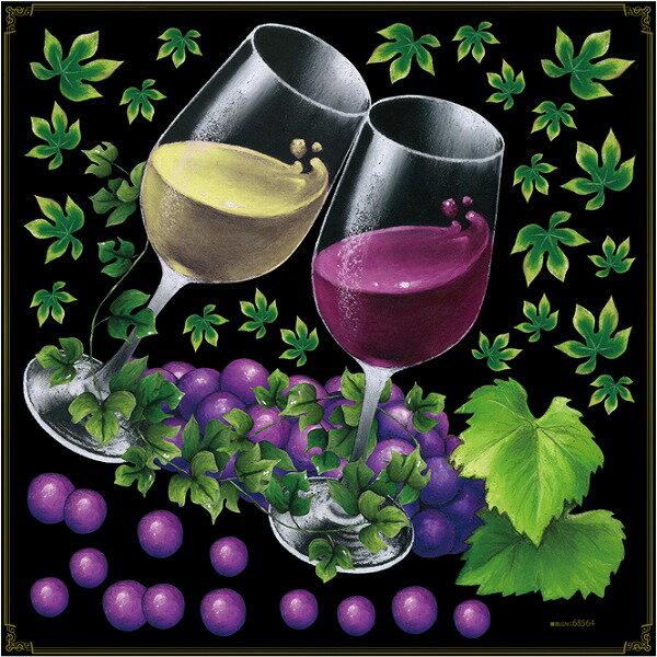 シール ワイン アイビー ぶどう 乾杯 グラス 装飾 デコレーションシール チョークアート 窓ガラス 黒板 看板 POP ステッカー 用