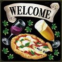 シール ピザ ビール ワイン マルゲリータ welcome リボン 装飾 デコレーションシール チョークアート 窓ガラス 黒板 看板 POP ステッカ..