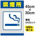 看板 表示板 「 喫煙所 」 小サイズ 30cm × 45cm イラスト