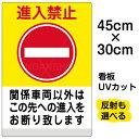 看板 表示板 「 進入禁止 関係車両以外 ( 黄帯 ) 」 小サイズ 30cm × 45cm イラスト