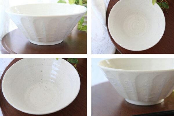【ラーメン鉢/うどん鉢】白粉引しのぎ型7寸丼【...の紹介画像2