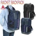 ルコックスポルティフ ラケット バックパック メンズ/レディース テニスバッグ ブラック/ネイビー 27L QTALJA00