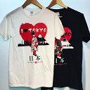 【メール便送料無料】東京 お土産 舞妓 Tシャツ I Love TOKYO Tシャツ アイラヴトーキョー 外国人向け Tシャツ 東京 浅草 日本 人気 お土産Tシャツ