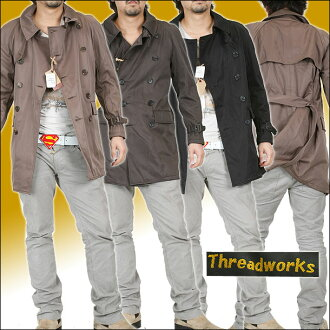 Thread works trench coat K-298