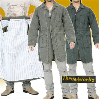 The thread works canvas long coat OHFM-3131