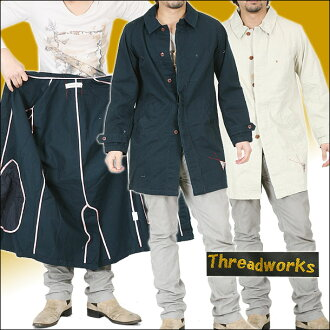 Thread works long cotton coat ohsm-9106