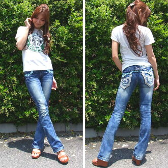 "Red pepper denim jeans women's RED PEPPER ""legs' bootcut series semi baggy denim 5510!"