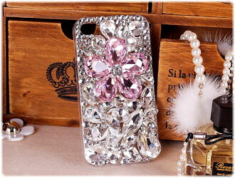 iPhone5 decoration case 5 5 3 Swarovski iPhone case hard iPhone case / iPhone 5 case / smahocase / brand / smart phone case / handmade / Deco / / iPhone 5 case rhinestone / flower / flower
