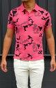 プロジェクトイー(Project-e) メンズ 半袖ポロシャツ カットソー半袖Tシャツ 迷彩柄 カモフラージュProject-E-MSC【グレー】【ブルー】【ピンク】迷彩柄 カモフラ柄 送料無料