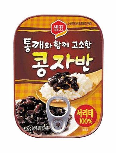 【センピョ】ごま入り黒豆煮(コンジャバン)醤油味 70g