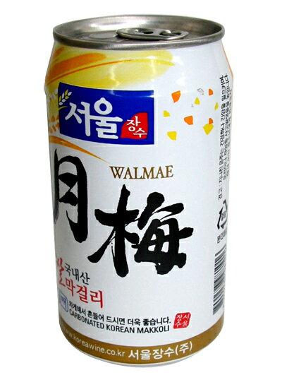 【ソウル】月梅(ウォルメ)マッコリ350ml〔缶〕