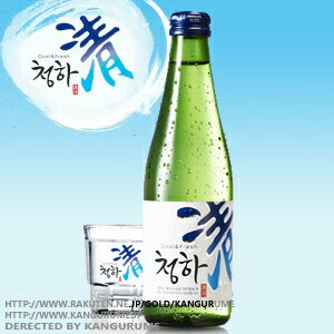 Qinghe 'jongha' shochu 300 ml ■ Korea food ■ Korea food materials and Korea cuisine and Korea souvenir / sake sake / shochu / Korea liquor Korea alcohol / Korea shochu / cheap
