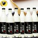 ◆冷蔵◆クール代無料「天地水」純生マッコリ750ml×6本【SET】生きている 酵素 韓国食品