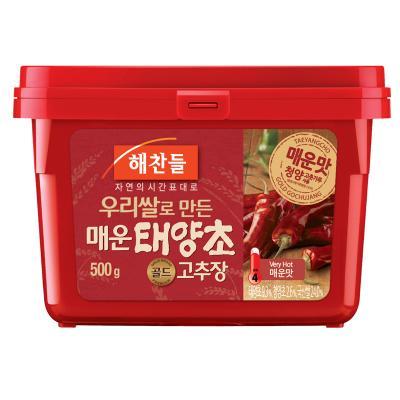 See haechandle' gigantic spicy red pepper paste 500 g ■ Korea food ■, tele ZIP / sushi / Korea cuisine / Korea food materials / seasoning / Korea source / pepper / chili / spice / capsaicin and pungent
