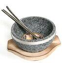 「NEW」石焼ビビン器3点セット「小」【韓国産高級天然石鍋「...