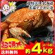 超特大!!北海道浜茹で毛がに姿約4kg(4〜5杯)【送料無料】