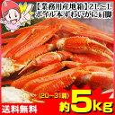 【業務用産地箱】2L〜Lボイル本ずわいがに肩脚 約5kg(2...