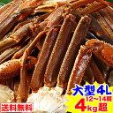 【クーポン併用でさらに1,000円OFF】大型4L生ずわい蟹...