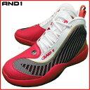 AND1 バスケットシューズ TAI CHI 3 タイチ 2005MWR ホワイト×レッド×ゴールド アンドワン バッシュ ダンス