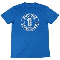 アンドワン AND1 Tシャツ CIRCLE LOGO TEE NEW SCHOOL 63114 ブルー ミニバス バスケットの画像