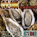 牡蠣 かき お試し 北海道 厚岸 殻付き 活牡蠣 2Lサイズ(5個入) 冷蔵 生牡蠣 マルえもん まるえもん ギフト 贈答 父の日 母の日 内祝い