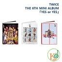 【公式トレカ付き】【おまけ付き】TWICE CD アルバム THE 6TH MINI ALBUM「YES or YES」バージョンランダム トゥワイス / おまけ:生写..