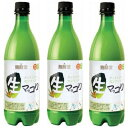 麹醇堂(クッスンダン)生マッコリ(ペットボトル)750ml 3本セット