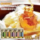【送料無料】蜂蜜ギフト(250g×5本)れんげ蜂蜜、みかん蜂蜜、百花蜂蜜、そよご蜂蜜、クローバー蜂蜜 蜂蜜専門店 かの蜂