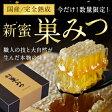 【送料無料】【新蜜】【国産】熟成巣みつ(300g前後)国産はちみつ 蜂蜜専門店 かの蜂