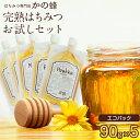 送料無料 はちみつ 蜂蜜 お試しセット 90g×5個 エコパック お取り寄せ グルメ 国産、外国産30種以上から5つ選べる!福岡県クーポン蜂蜜専門店 かの蜂