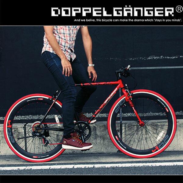 650C クロスバイク シマノ7段変速 軽量 スタンド バーエンド 自転車  ドッペルギャンガー DOPPELGANGER 402S 自転車の伝統機能美【品質第一、ユーザー第一】