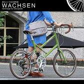 【送料無料】20インチ ミニベロ 14段変速 軽量 アルミフレーム スタンド ロードバイク ドロップハンドル 激安自転車 通販 ヴァクセン WACHSEN HWbv-227