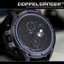 腕時計 ブラック[日本製 スポーツウォッチ シリコン メンズ ケース ベルト 防水 自転車 通販 ドッペルギャンガー DOPPELGANGER ]dgw02s-...